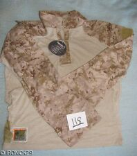 "NWT USMC FROG SHIRT DESERT DIGITAL DEFENDER ""M"" LARGE / LONG"
