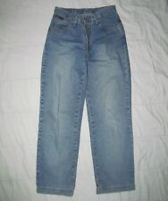 LEI Jeans Juniors 7 Classic Flared 5 pocket blue jeans with 4 buttons 27 Waist