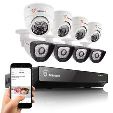 8CH DVR CCTV Home Security System Indoor + Outdoor 800TVL Camera Night Vision