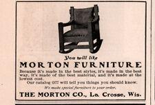 1904 A AD  MORTON FURNITURE MISSION ROCKER LA CROSSE
