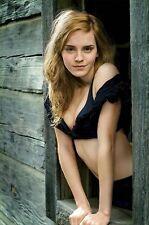 "Emma Watson Movie Actor Star Silk Cloth Poster 36 x 24"" Decor 13"