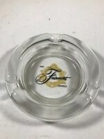 Vintage Clear Glass FAIRMONT HOTELS Advertising Ashtray