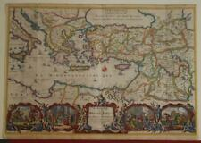 EASTERN MEDITERRANEAN HOLY LAND IRAQ MIDDLE EAST 1688 STOOPENDAAL ANTIQUE MAP