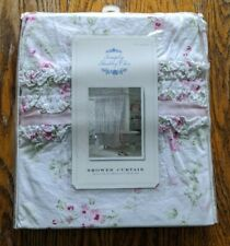 NEW Simply Shabby Chic Shower Curtain Cherry Blossom Ruffle Floral Cottage 2008