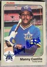 Seattle Mariners Manny Castillo Signed 1983 Fleer Card