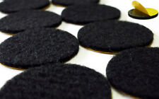 Felt Gliders round Black - Strong Self-Adhesive 15mm - 62mm - Furniture 2mm