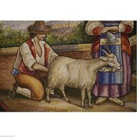 (0531) Roman Micro Mosaic,half of 19th century
