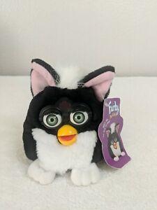1999 Furby Buddies Light Please Black White Hair Green Eyes Tiger Electronics