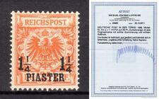 Deutsche Post in der Türkei Mi.9 b a 9ba ungebraucht geprüft Attest Jäschke BPP
