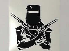 Ned Kelly Sticker Decal New Choice of Colour Crossed Guns Outlaw Outdoor Vinyl