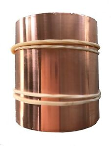 99.5% Pure Copper Cu Metal Foil Roll 0.053mm thick x 47mm wide x 10m