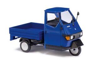 Busch 60002 Piaggio Ape 50, blau, Spur 0, 1:43