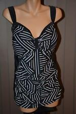 NEW Autograph FIRMING TUMMY PANEL Swimsuit TANKINI Top Size 18 B&W MONO $79.99