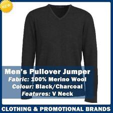 Merino Wool V-Neck Jumpers for Men