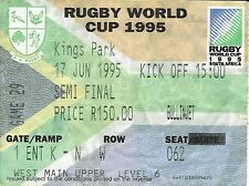 More details for south africa v france semi final 17 jun 1995 durban rugby world cup ticket