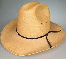 Vtg Resistol Self Conforming Straw Cowboy Texas USA Panama Hat Size 7 1/2