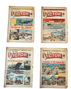 4 x Victor Comics dated 1961 No 16,24,25,36 Good 60th Birthday Gift FREE UK P&P
