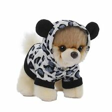 Gund 4050491 The Worlds Cutest Dog Itty Bitty Boo Grey Leopard Hoodie