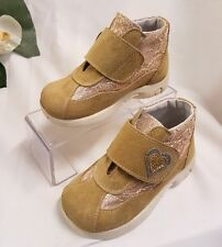 Niños Niñas bebé zapatillas hecho ITALY Beis Talla 25 Zapatos