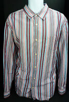 XL Banana Republic Slim Fit Long Sleeve Striped Button Front Shirt