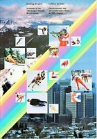 1988 Calgary Olympics Stamp Set (Includes the set of stamps from 1986-1988) MNH