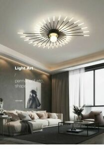 Acrylic Modern LED Chandelier Light Flush Ammount Ceiling Lamp Indoor Fixture