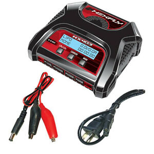 Redcat Racing Hexfly HX-403 LiPo/LiFe Battery Charger AC/DC Dual Port 2S/3S/4S