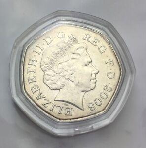 2008 The Royal Mint Britannia Fifty Pence 50p coinCapsulate