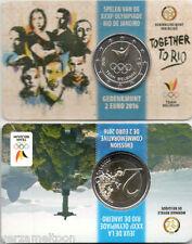 """BELGIE: SPECIALE 2 EURO 2016 """"RIO DE JANEIRO"""" SCHAARSE COINCARD"""