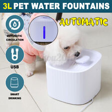3L Pet Water Fountains Automatic Water Dispenser For Cats And Dogs White
