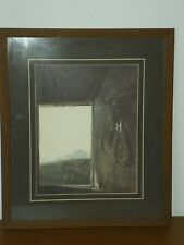 Vintage Andrew Wyeth BURNING OFF Litho Print Professionally Matted & Framed