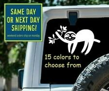 8 Sizes Lazy Sloth on Branch Car Window Decal Sticker Macbook Laptop Tablet gift