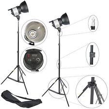 1000W Kit DynaSun 2x QL1000 Lamp Halogen Light Bowens fit w/ Dimmer +2x STAND