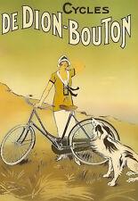 Los ciclos de viaje de Dion Bouton Bicicleta Bici anuncio arte cartel impresión A3