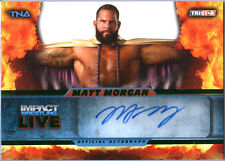 TNA Matt Morgan L25 2013 Impact Wrestling LIVE GREEN Autograph Card SN 2 of 50