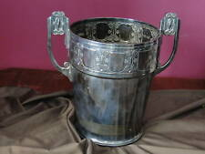 FRENCH ART DECO WINE COOLER,  SILVER PLATED CIRCA 1930,  VINTAGE MARKED, STYLISH