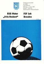 DDR-Liga 83/84 Motor Fritz Heckert Karl-Marx-Stadt FSV Locomotive Dresden,