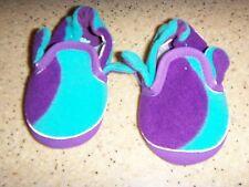 baby Gap blue purple Fleece Slippers boys size 6/12 month Ogre Style Cute Mom @