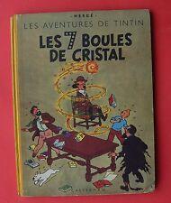 TINTIN HERGE LES 7 BOULES DE CRISTAL B2 2DE EDITION 1948 BON ETAT