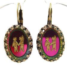 SoHo® Ohrhänger Ohrringe Sternzeichen Zwilling true vintage bohemia Glas bronze