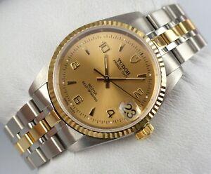 TUDOR Prince Date Automatic - 72033 - steel-gold