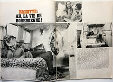 BRIGITTE BARDOT => COUPURE DE PRESSE 2  pages 1970 //  FRENCH CLIPPING