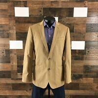 J CREW Ludlow Crespi Men's Blazer 40R Khaki Sport Coat Jacket 100% Cotton
