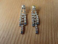 Vintage crystal earrings   (B2)