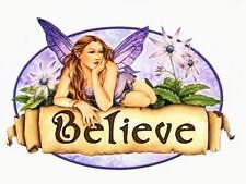 BELIEVE SPRING FLOWER FAIRYS FAERY WICCA FAIRY STICKER/VINYL DECAL Selena Fenech