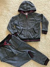 RARE Little Marc Jacobs Boys Designer Hooded Sweatshirt Jacket Pants Set Sz 5