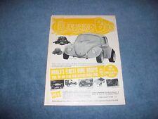 """1971 Motion Minicar Vintage VW Ad """"Thundering Bug"""" Dune Buggy Phase III V-Dub"""