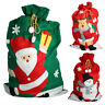 Kids Giant Christmas Santa Sack Stocking Extra Large Red Father Gift Present Bag