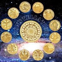 Regalo creativo de la moneda del desafío cobrable de las constelaciones del oro