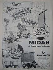 7/1982 PUB THOMSON CSF DRS-TVT MIDAS AIR DEFENSE GROUND ENVIRONMENT ORIGINAL AD